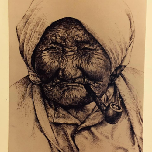 Photograph of the author's dìdųų (great grandmother), Julienne The'dahcha